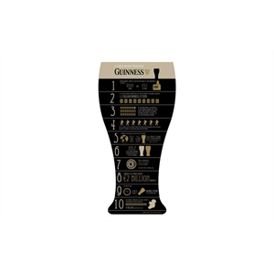 Placa Guinness 10 Things